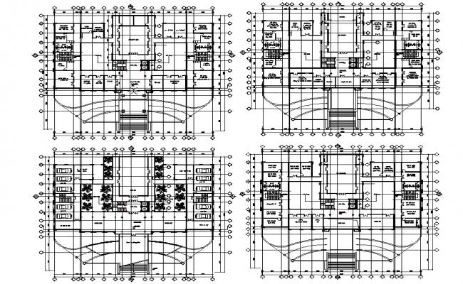 Ground floor to third floor office plan detail