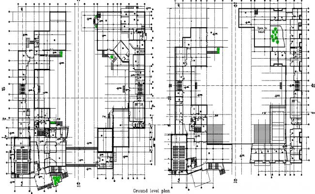 Ground floor working plan detail dwg file
