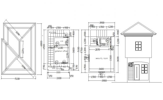 Guard House Design AutoCAD drawing
