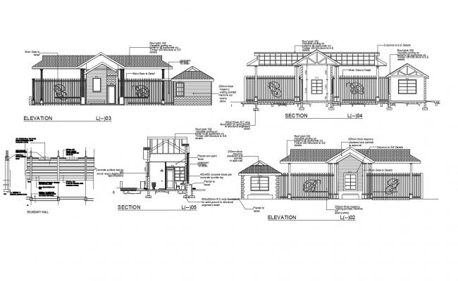 Guardhouse with detail dimension in AutoCAD