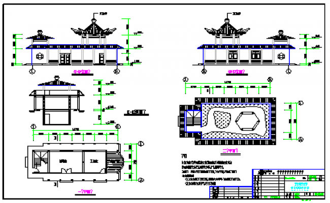 Guest House Design drawing on river side