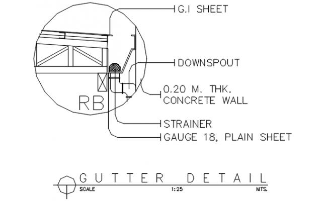 Gutter detail dwg file