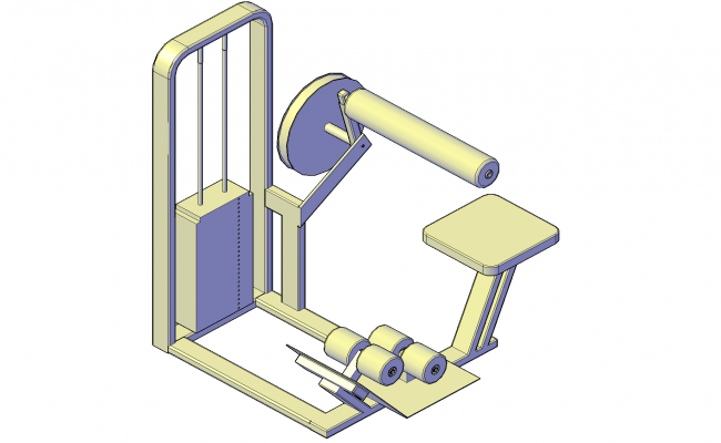 Gym equipment plan detail dwg.