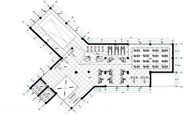 Gymnasium plan detail dwg file.