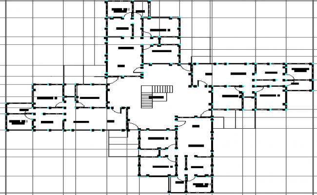 Habitation building of social interest architecture layout plan details dwg file