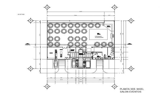 Hair salon architecture layout plan details dwg file