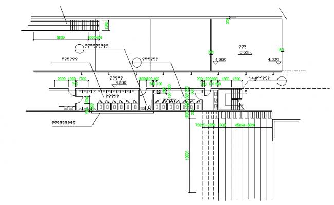 Handicapped toilet  details in DWG file