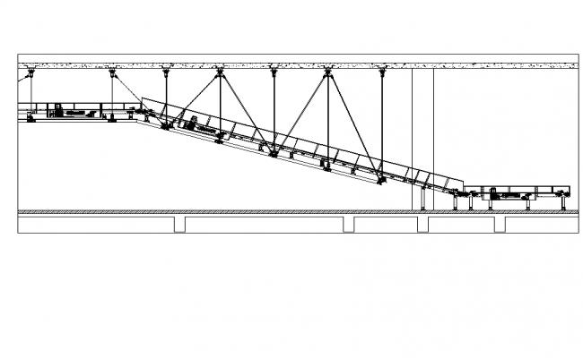 Hanging conveyor belt plan detail dwg file.