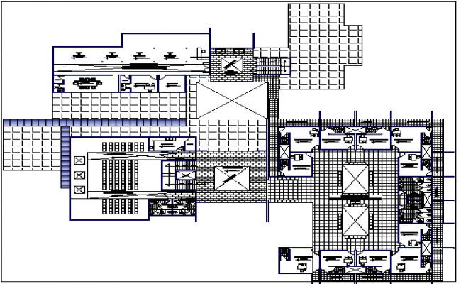 Health Center Architecture Design and Structure Details dwg file