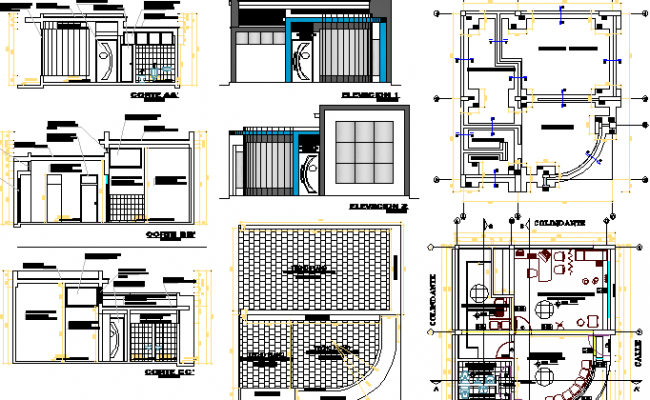 Health Center for Adolescents Architecture Project dwg file
