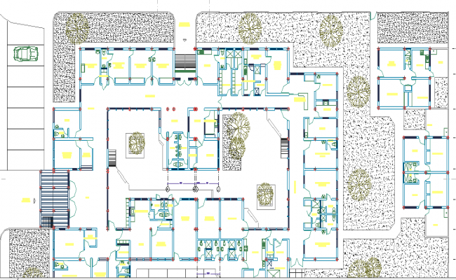 Health Center of High Complexity dwg file