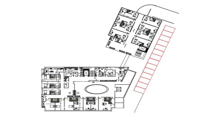 Health center layout plan in AutoCAD