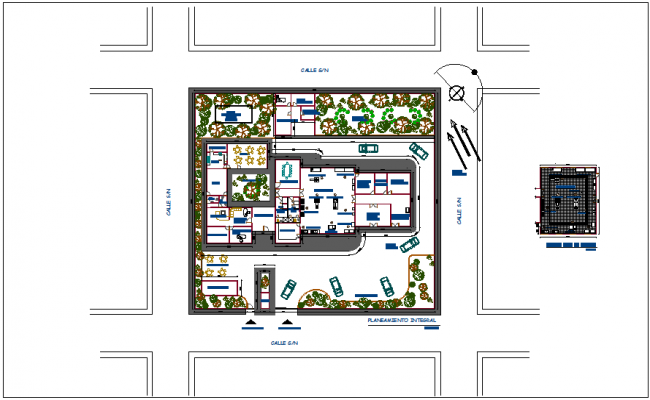 Herb processing plant of Peru with integrated planing and process room dwg file