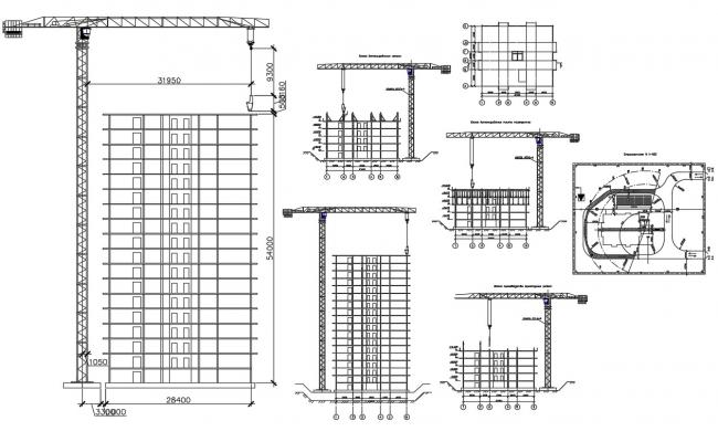 High Rise Building Construction Details CAD Drawing