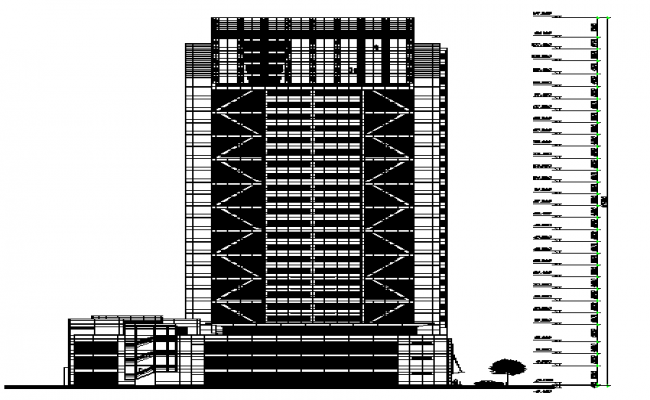 High Rise Building Section Detail