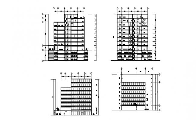 High Rise Building Section In DWG File