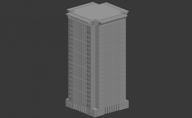 High Rise Commerce Building 3d model