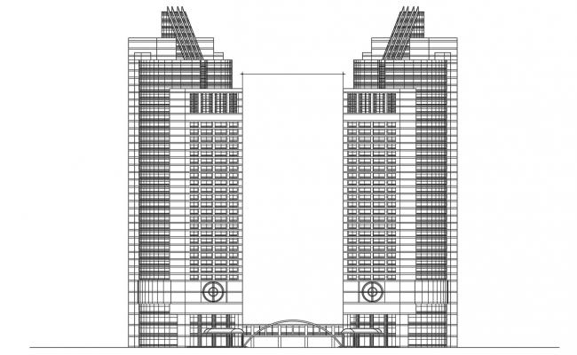 High Rise Commerce Building Facade Design