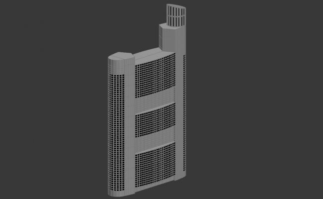 High Rise Commercial Building Design 3d Max file