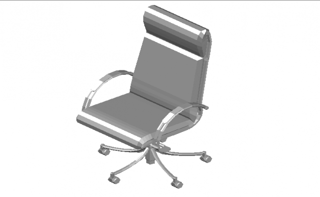 High back  managers chair 3d