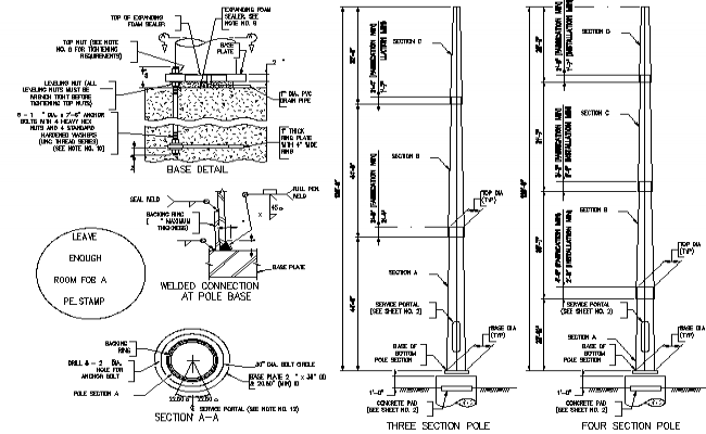 lighting pole autocad block  lighting 2d dwg plan for