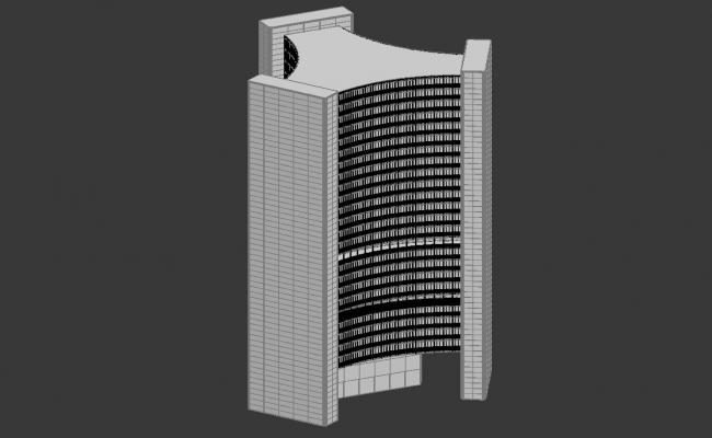 High rise Office Building 3d Max Drawing