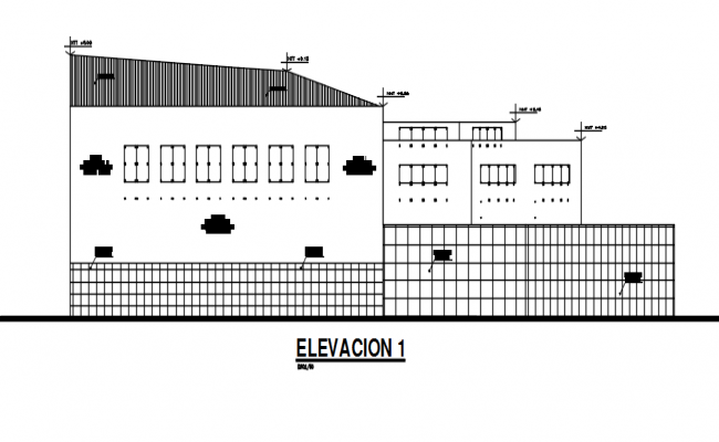 High rise building Elevation working plan detail dwg file