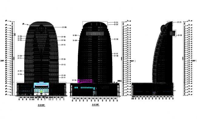 High rise building design CAD file download