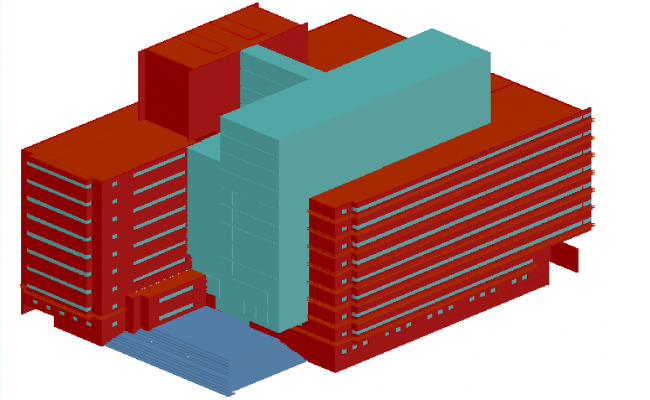 High rise building elevation detail dwg detail file