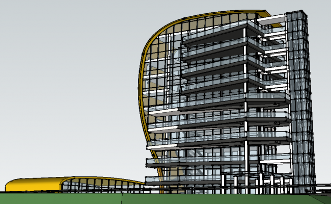 High rise commercial building Sketch-up file