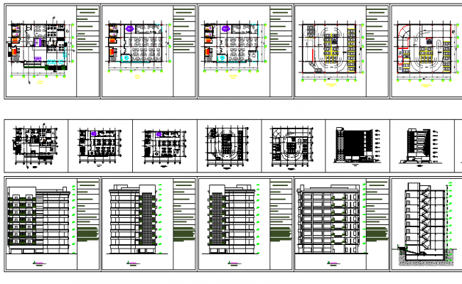 High rise corporate office building auto-cad details dwg file