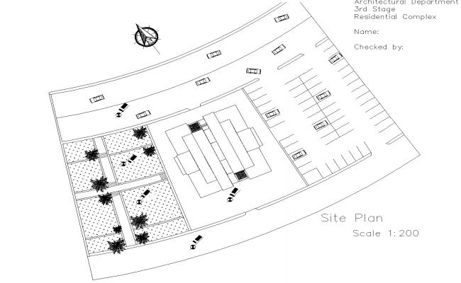 High rise residential building plan detail dwg file.