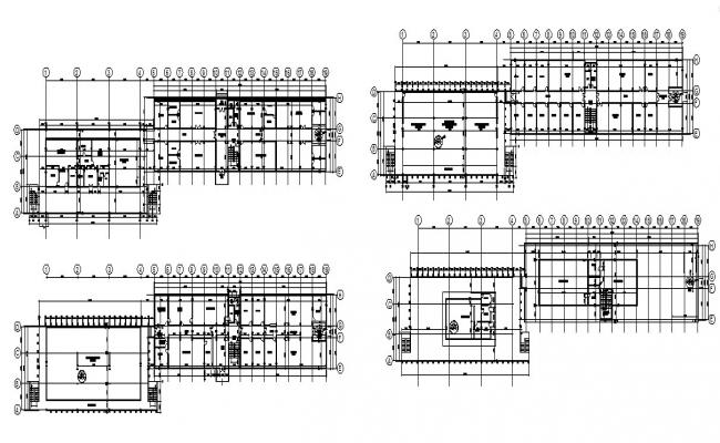 Higher education institute building floor plan cad drawing details dwg file