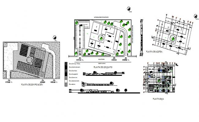 Higher study college building detailed architecture project dwg file