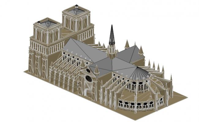 Historical Buildings CAD Drawing