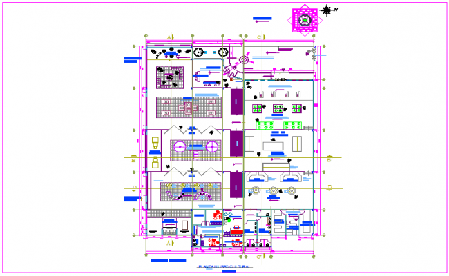 Historical movement for cultural museum plan dwg file