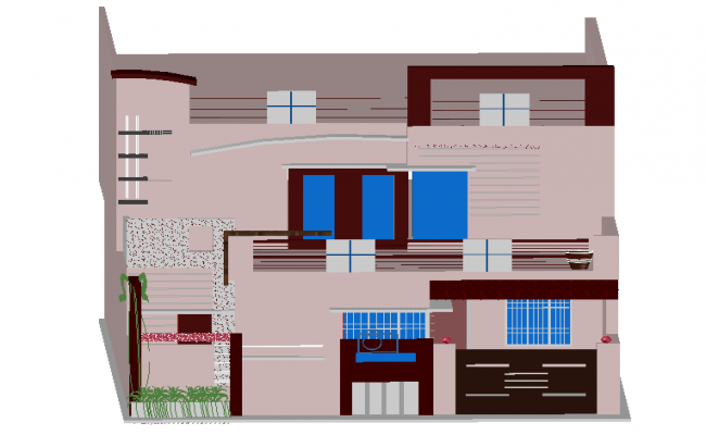 Home 3 D plan autocad file
