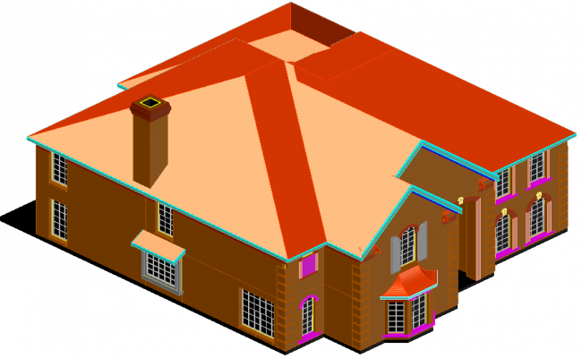 Home 3 D plan detail