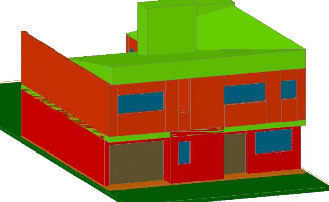 Home 3 D plan detail dwg file
