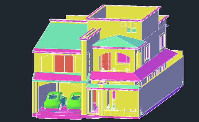 Home 3 d detail dwg file