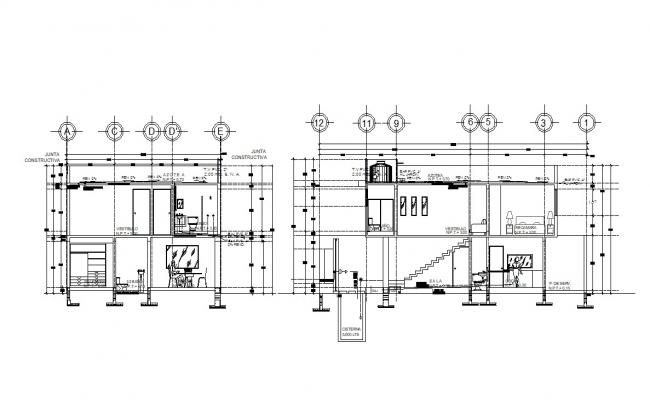 Home Design Section AutoCAD Drawing