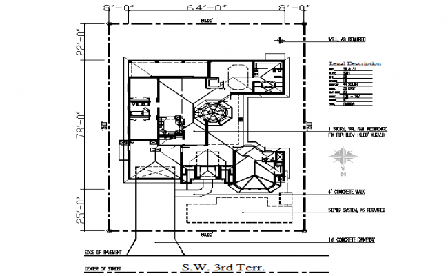 Home Floor Lay-out architecture Plan