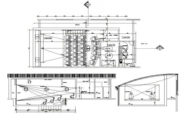 Home Theater Plan DWG File