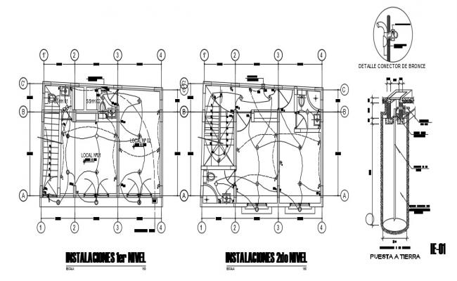 Home Wiring Plan In AutoCAD File