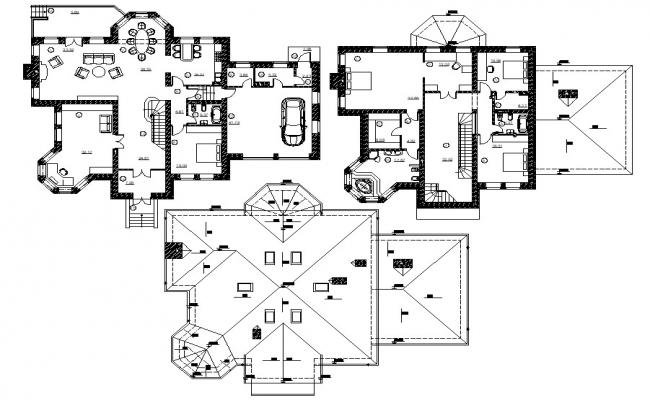 Home plan project autocad drawing
