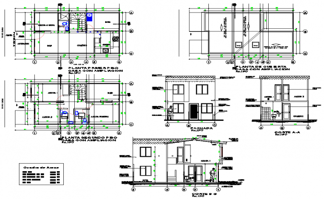 Home planning detail dwg file