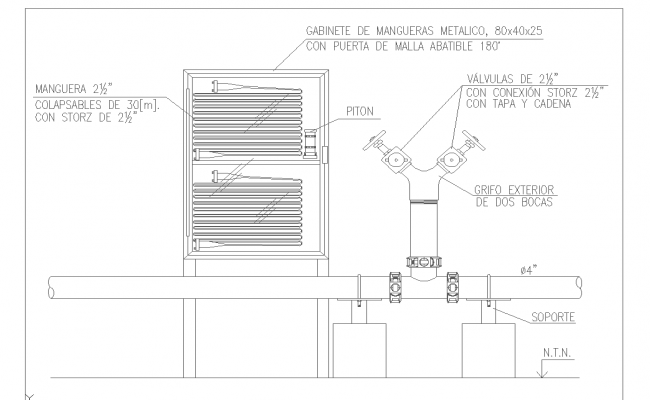 Hose faucet and cabinet design and detail cad files