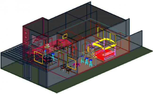 Hosing 3 D plan detail dwg file