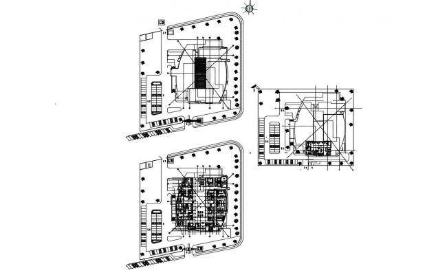 Hospital Building Architecture Floor Plan Drawings