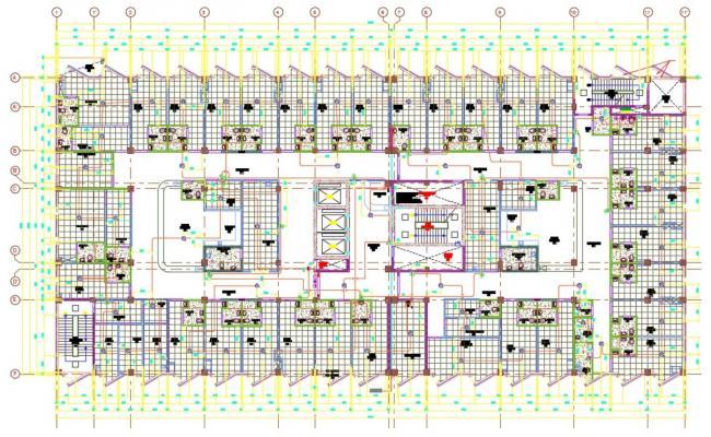 Hospital Building Design Architecture Plan DWG File